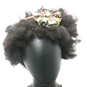 circled Dashiki styled head band with centered shell.