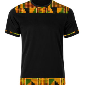 Male Kente short sleeve shirt