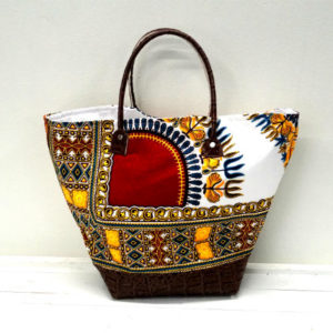 Simple Dashiki tote bag (white)