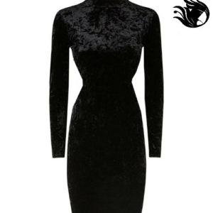 "Velvet crush High neck   ""Royalty"" dress"