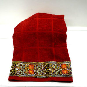 Spoon and Dish Towel Dashiki Set (Red)