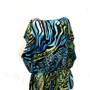 Kaftan Animal Print (Teal)